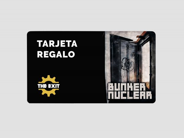 tarjeta regalo bunker nuclear